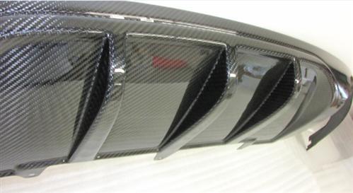 Passend für Audi A5 S-Line Echt Carbon Heckdiffusor Diffusor DTM Style bis 2011