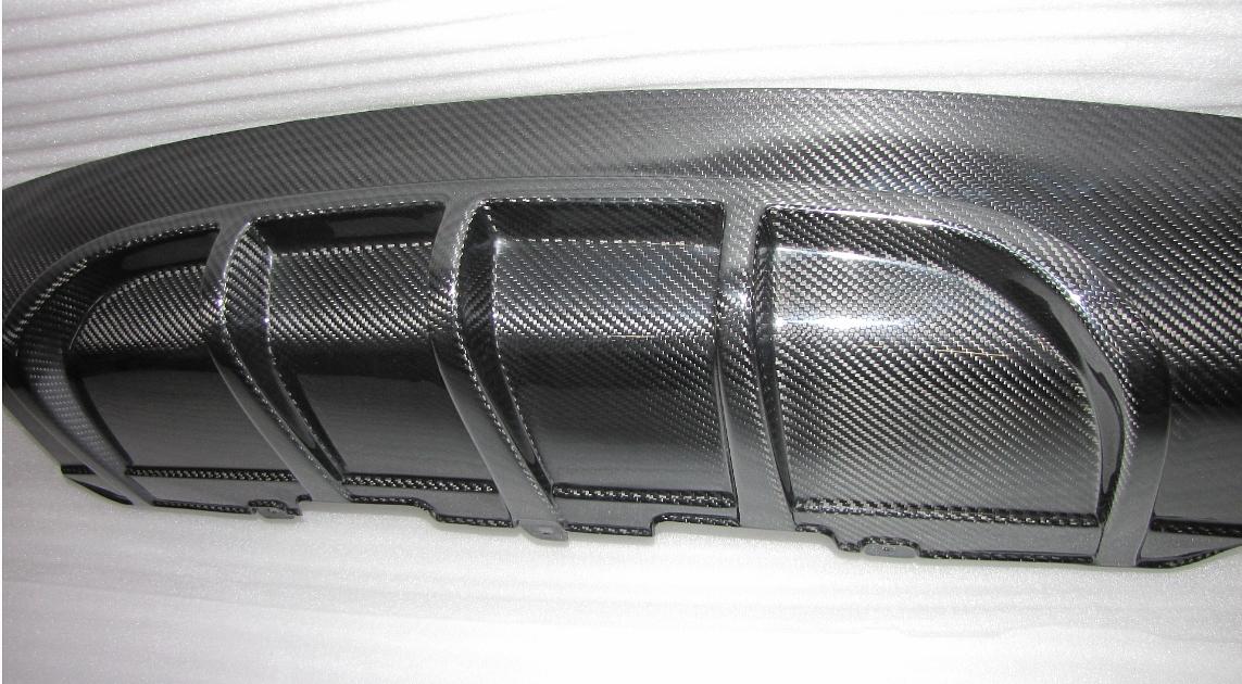 Passend für Audi A5 S5 Echt Carbon Heckdiffusor Diffusor DTM Style bis 2011