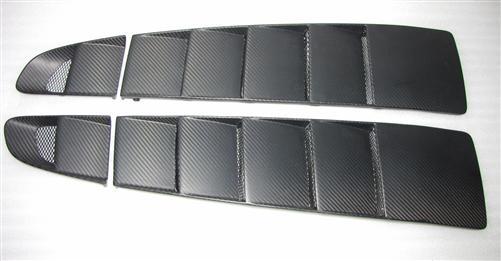 Passend für Audi R8 Echt Carbon Matt Lüftung Cover Ramair GT Spyder V10