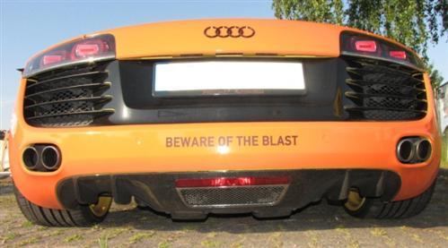 Passend für Audi R8 Echt Carbon Abdeckunng Heck Diffusor DTM Style Coupe Spyder V8