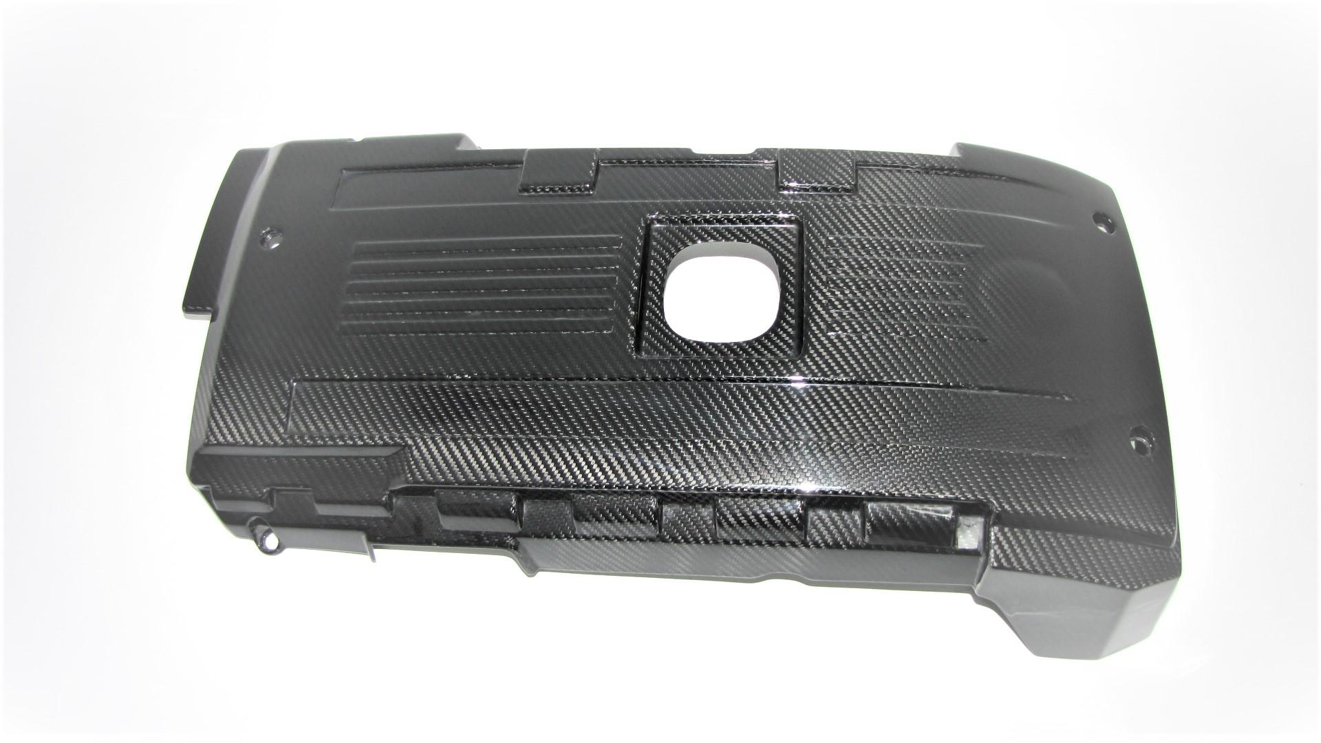 Passend für BMW M E82 1M ECHT Carbon DTM Style Motorabdeckung Motor
