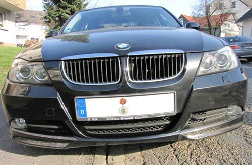 Passend für BMW E90 E91 Echt Carbon Frontschürze Aufsatz Spoiler NEU