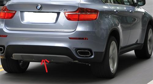 Passend für BMW X6 Heck diffusor Heck Carbon Abdeckung NEU