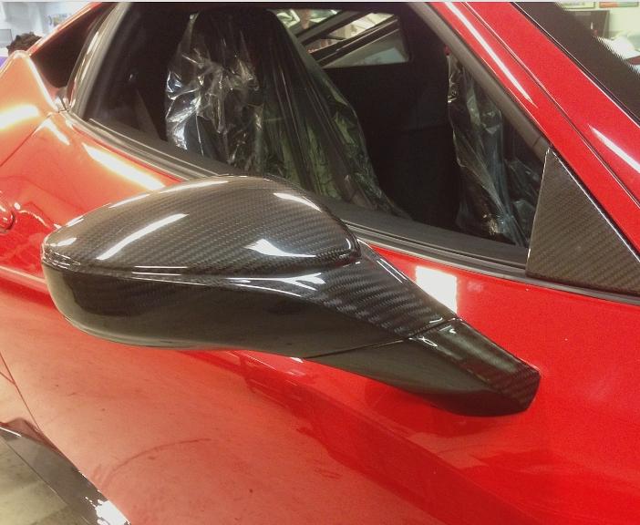 Passend für Ferrari F458 Spyder Italia Echt Carbon Fein Spiegel Speciale