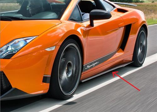 Für Lamborghini Gallardo LP500 LP570 Echt Carbon Seitenteile Diffusor