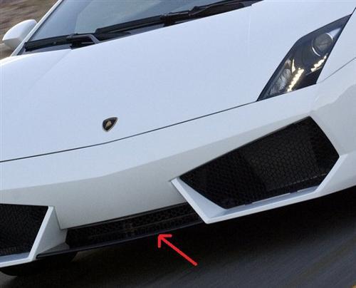 Für Lamborghini Gallardo LP560Echt Carbon Spoiler Frontschürze Schwert
