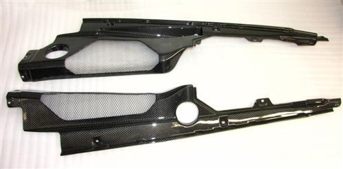 Für Lamborghini Gallardo LP560 Echt Carbon Motor Abdeckung 2 u 3 von4