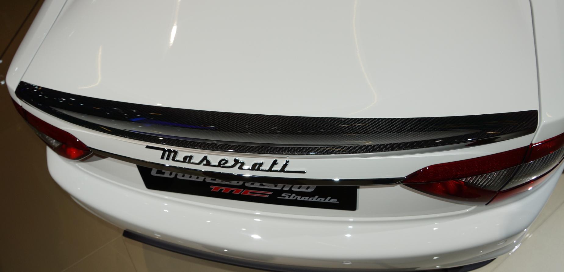 Passend für Maserati GT Stradale ab2007 Carbon Heck Spoiler MC-Style flacher Deckel