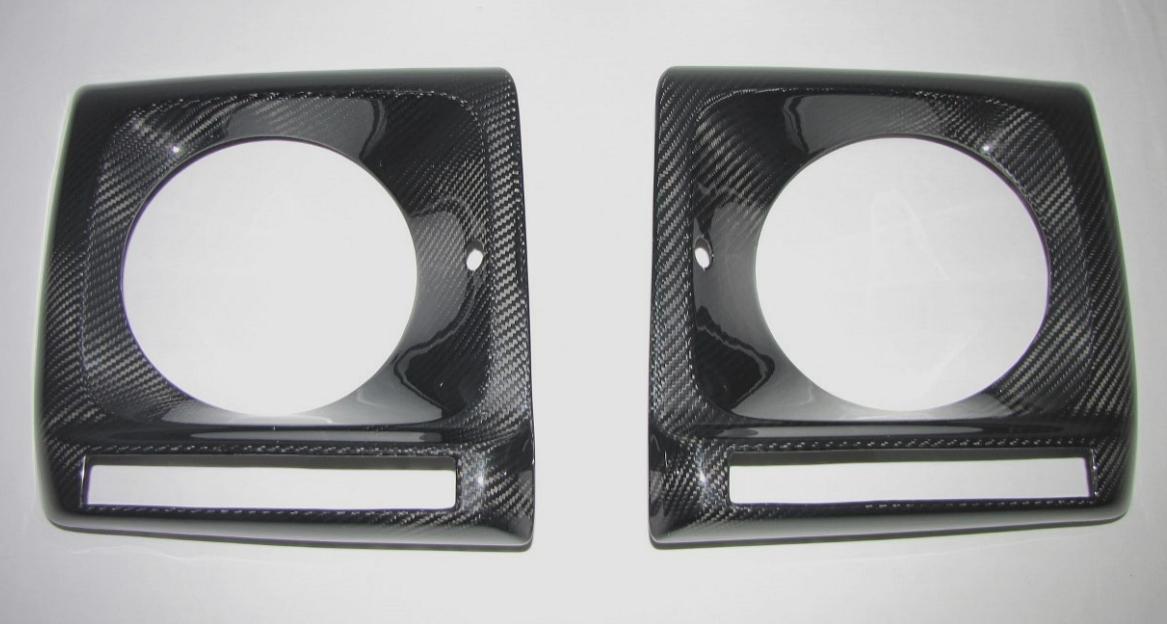 Passend für Mercedes Benz G Klasse  W463 AMG Echt Carbon Scheinwerferabdeckung LED