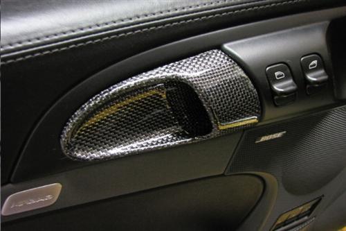 Für Porsche S 911 997 987 Cayman Boxster Carrera Silber Carbon tür griff
