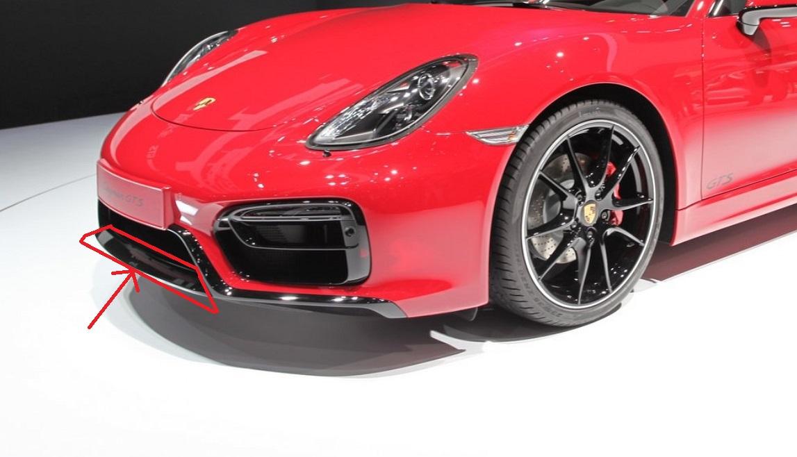 Passend für Porsche 981 GTS Boxster Cayman Echt Carbon Schwert Spoiler vorne unten