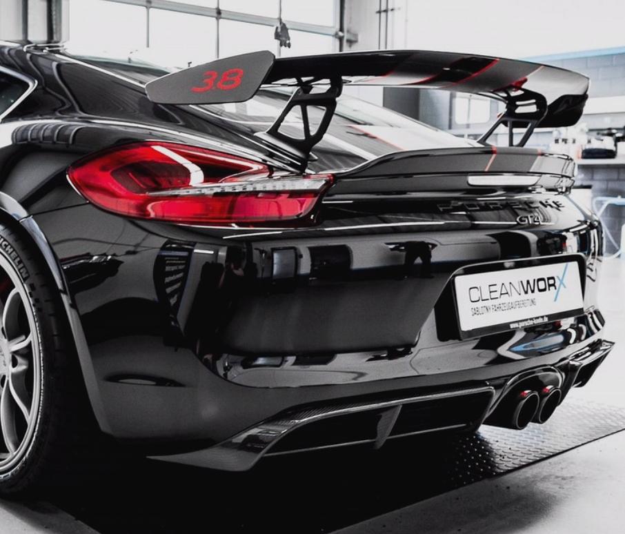 Passend für Porsche 981 Boxster Spyder Cayman GT4 Cabrio Carbon Diffusor Heckdiffusor