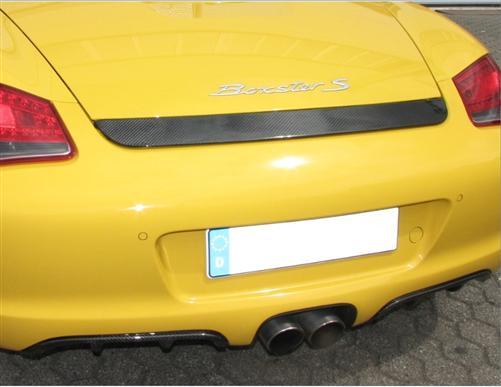 Passend für Porsche Boxster 987 und 987 II Carbon Matt Heckspoiler