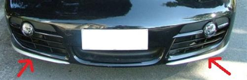 Passend für Porsche Cayman S 987 Carbon Matt Spoiler Frontlippe Spoiler Stoßstange