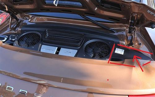 Passend für Porsche 991 911 Turbo Coupe Cabrio Echt Carbon Motor abdeckung Engine rechts
