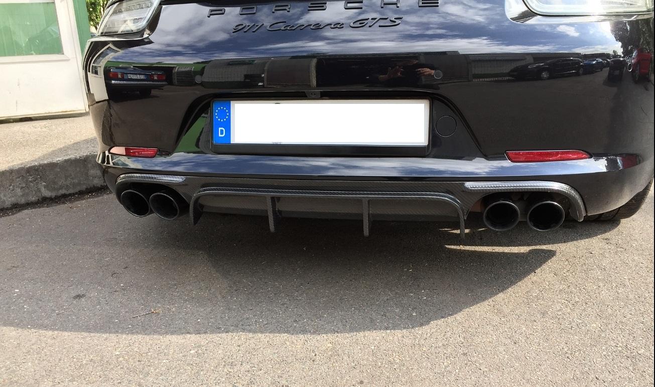 Für Porsche 991 911 GTS Coupe Cabrio Echt Carbon DTM Style Diffusor Heckdiffusor