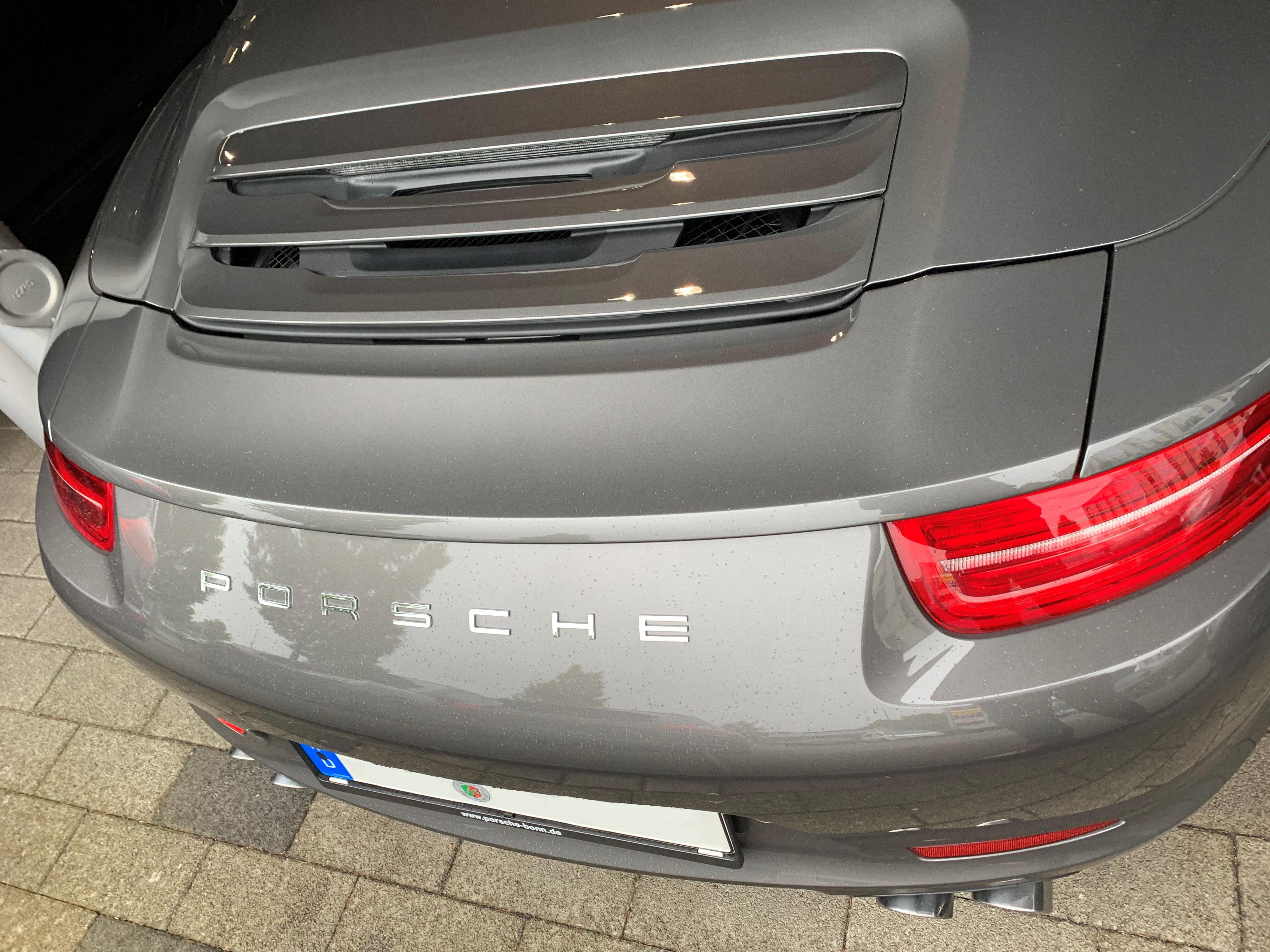 Passend für Porsche 991.1 911 GTS 4 S Echt Carbon Heck Spoiler Heckspoiler