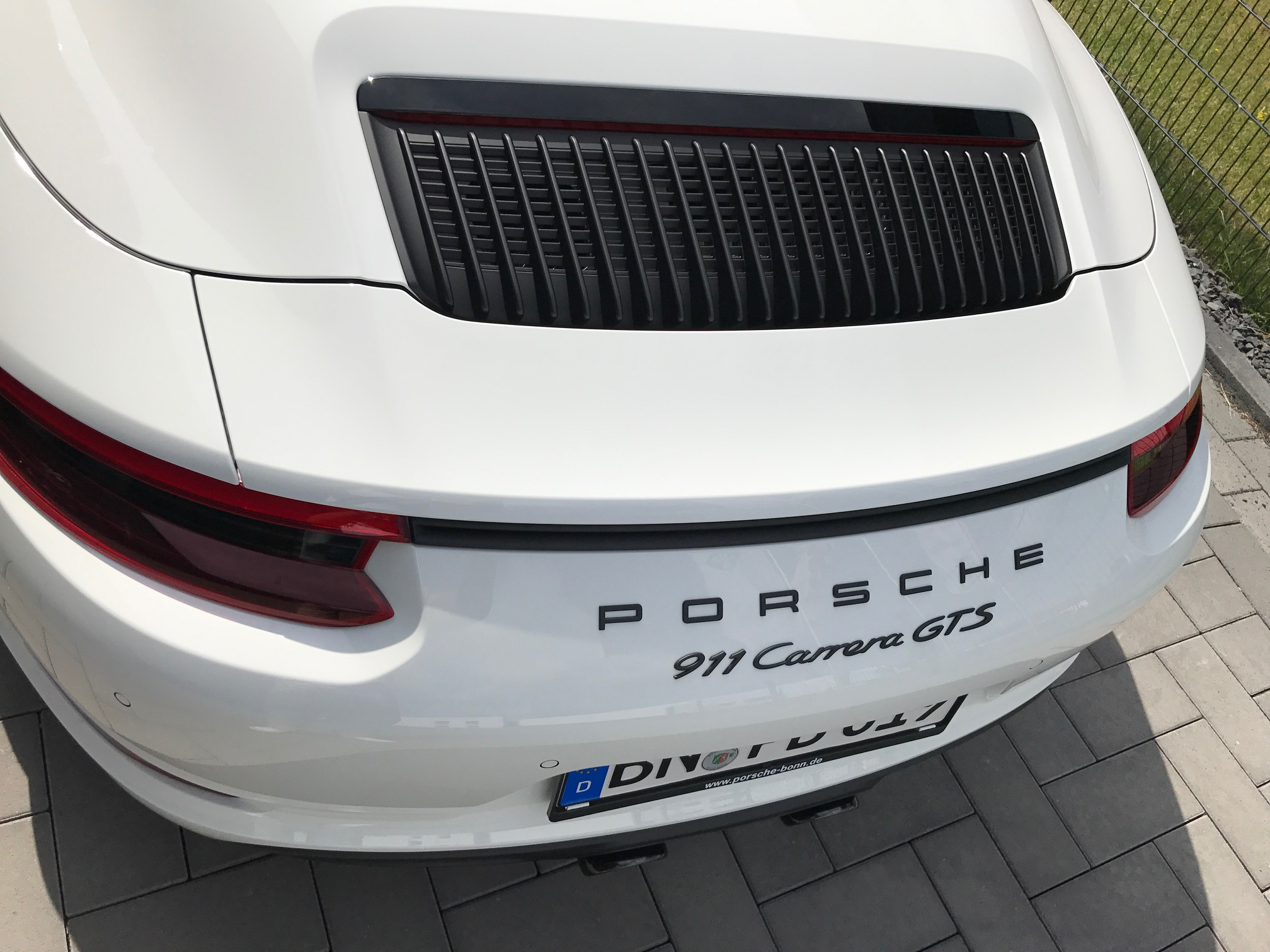 Passend für Porsche 991.2 911 GTS Coupe Cabrio Echt Carbon Heck Spoiler Heckspoiler