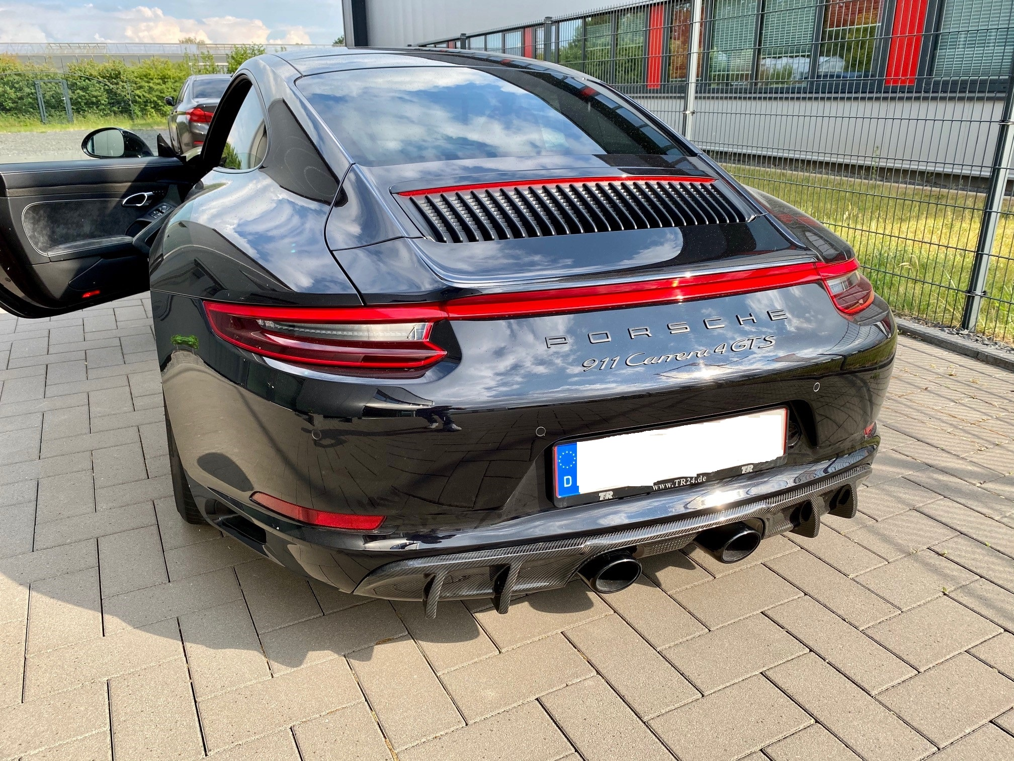 Passend für Porsche 991.2 911 4 GTS Targa Coupe Cabrio Carbon Diffusor DTM Style